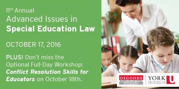 11th Annual Advanced Issues in Special Education Law